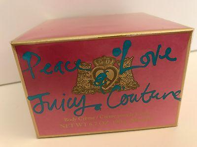 ~JUICY COUTURE Peace & Love BODY CREAM~New SEALED in Box~6.7oz/200ml~Rich Lotion - Peace Body Cream