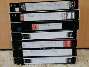 VHS BLANK Video Tapes x7 Sci-Fi & Footy (Lot-17)