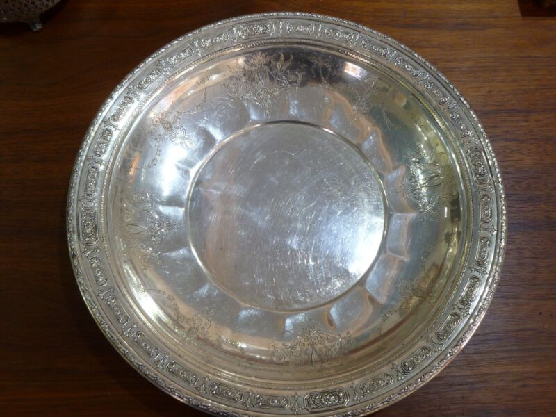 """Amazing Towle Sterling Silver Tray Charger Plate Old Master #6668 12"""" Wide"""