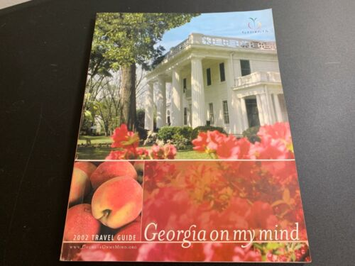 Vintage 2002 Georgia On My Mind official State Travel Guide GA ephemera ads