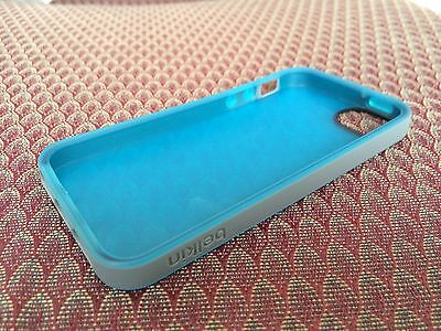 Soft Silica Gel Silicone Cover Belkin Case For Apple iPhone 5 5S New Blue/Gray Belkin Blue Silicone Case