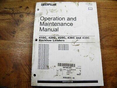 Cat Caterpillar 416c 426c 428c 436c 438c Backhoe Loader Operation Maintenance