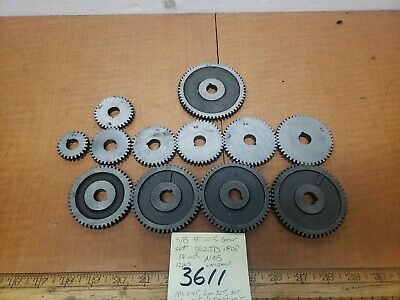 Southbend Lathe 910k Change Gear Set 12pcs Nos .563id 18dp