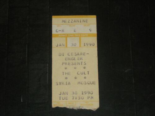 THE CULT 1990 TICKET STUB**PITTSBURGH SYRIA MOSQUE**JANUARY 30, 1990**MEGA RARE*