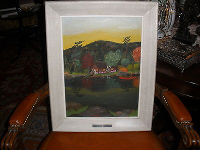 Thrift Store O Cb Painting  Artist Signed  Welcome Ranger By R Domer Mid Century