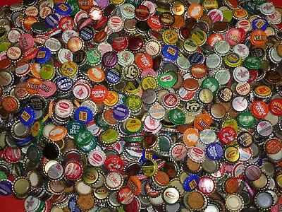 100 VINTAGE SODA POP BOTTLE CAPS 60 DIFFERENT STYLE EACH LOT + 10 BONUS CAPS