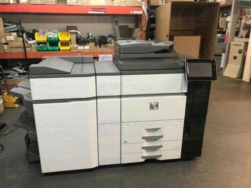 Sharp Mx-7580n Color Laser Production Printer Copier Scanner Fn22 Finisher 75ppm