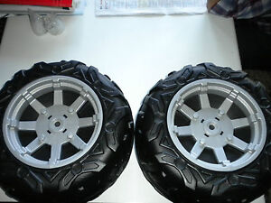 paire roues arri re voiture peg perego polaris rzr 900 12 volt ebay. Black Bedroom Furniture Sets. Home Design Ideas