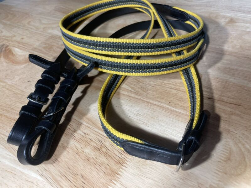 Leaders Chain Grip Reins ~ Great Quality! Yellow