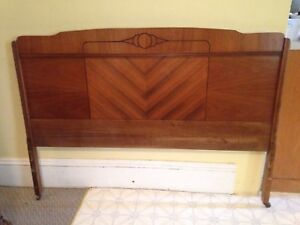 Antique Art Deco Double Head Board