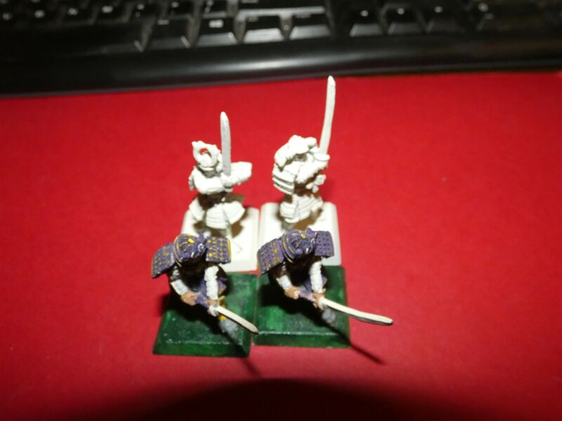 Clan War: Samurai: metal Medium Infantry with Swords x4