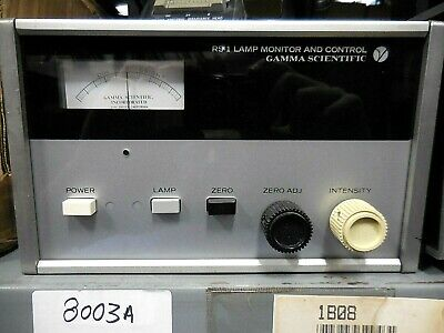 Gamma Scientific Rs-1 Lamp Monitor Control Rs-10a Spectral Irradiance Head 2