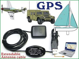Laptop-GPS-Receiver-Antenna-Boater-Google-Map-NetBook-PC-Android-Tablet-USB-E