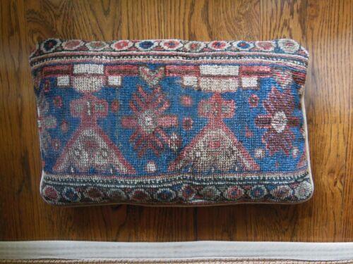 "Sofa Throw Pillow Made From Antique Kilim Rug 19"" X 13"""