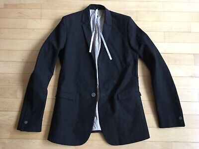 LABEL UNDER CONSTRUCTION Jacket Black Cotton Blazer Carpe Diem New RRP 1386