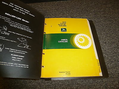 John Deere 3010 Row Crop Tractor Parts Catalog Manual Pc690 Sn 00000-49999
