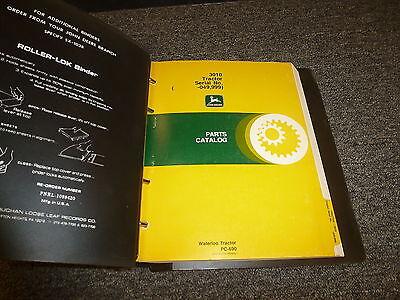 John Deere 3010 Row Crop Tractor Parts Catalog Manual Pc690 Sn 00000-49999
