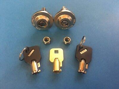 2 Homak Safe Locks Keyed Alike-3 Keys Wall Gun Safes- Hmca00001 Thru Hmca31000