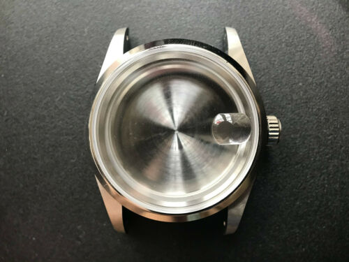 36MM SMOOTH BEZEL DATEJUST WATCH CASE WITH DRILLED THROUGH LUG FIT ETA2824 NH35