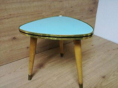Cocktail Tisch 50er Jahre Rockabilly Blau Blumentisch Nierentisch 32 x 32 x 32cm