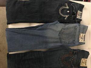 True religion jeans size 34,34,36