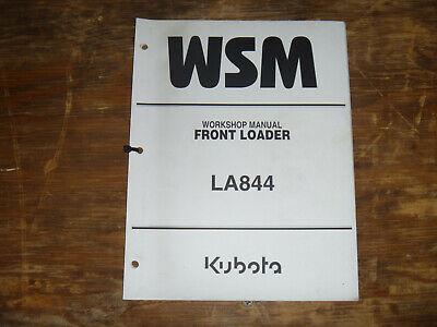 Kubota La844 Front Loader Shop Service Repair Manual