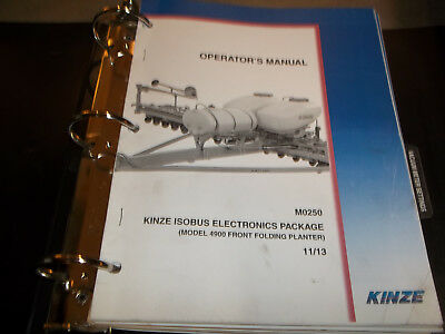 Kinze 4900 Isobus Electronics Parts Operators Manual Package 1113