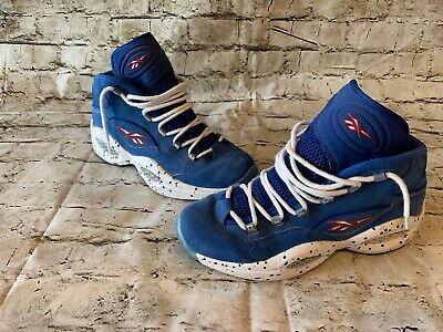 meet 608cd d9f3d Reebok Question Mid  1 Draft Pick Size 10.5 Allen Iverson Blue Suede QS OG
