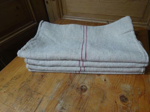 Antique European Feed Sack GRAIN SACK Red Stripe # 10406