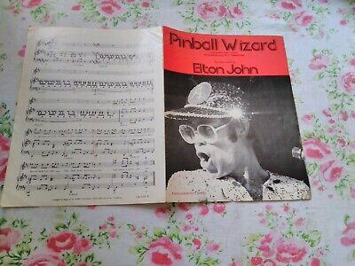Pinball Wizard by Pete Townshend recorded by Elton John Sheet Music