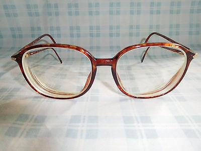 Silhouette Tortoise Eyeglasses Eyeglass Sunglasses Frame 80s Librarian Geek (Librarian Glasses Frames)