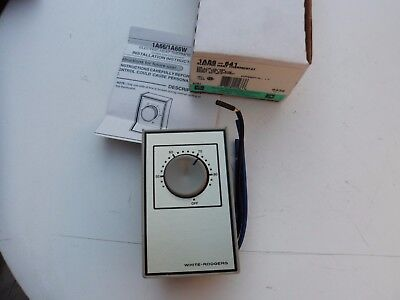 New Nib White Rodgers 1a66-641 Beige Line Voltage Wall Thermostat 40-85 Degrees