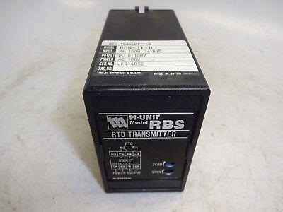 M-system Rbs-31-b M-unit Rtd Transmitter