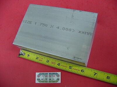 1-34 X 4 Aluminum 6061 Flat Bar 6 Long Solid Plate Mill Stock 1.75 X 4.00