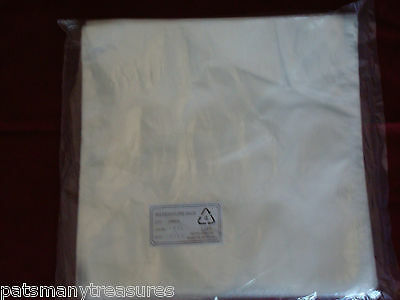 100 Flat Top Plastic Poly Bags 1 Mil Clear 14 X 18
