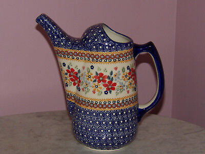 Polish Pottery Watering Can! UNIKAT Signature Rembrandt Pattern!