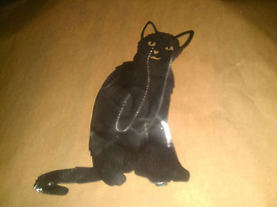 Cat kitty feline halloween yard garden stake metal art feline BLKCT04 - Halloween Garden Stakes