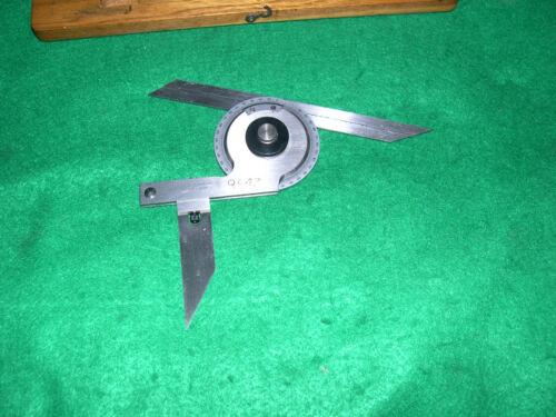 Scherr Tumico #6005 Universal Bevel Protractor, Vernier Ultra Fine Adjustment