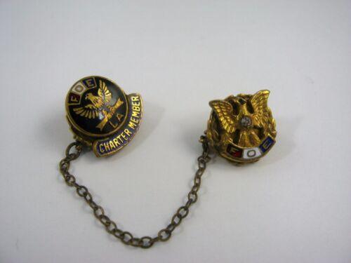 Vintage Collectible Pin: FOE Fraternal Order of Eagles Charter Member LA