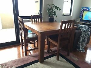 Solid wood square table with chairs - original price $1,200 Waverley Eastern Suburbs Preview