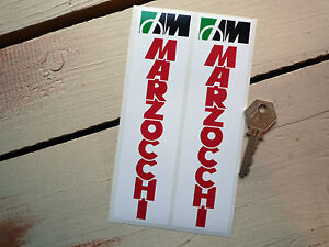 MARZOCCHI-RED-TEXT-Racing-Stickers-Ducati-Laverda-et-al