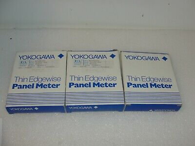 Yokogawa Thin Edgewise Panel Meter Ye0210-002 Lot Of 3 New
