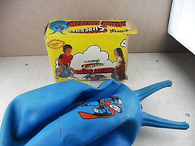 Superman Ballon (trés rare Ancien jouet, ballon sauteur Superman, Corgi,)
