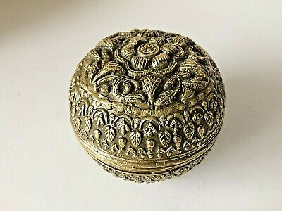 ANTIQUE BALINESE BRONZE BETEL NUT LIME CONTAINER BOX