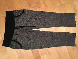 Pantalon en meleton noir et argent brillant