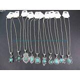 US SELLER-10pcs retro vintage wholesale lot turquoise jewelry pendant necklace