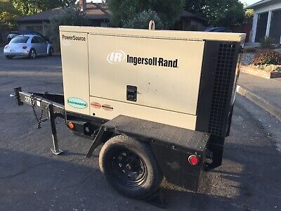 2006 Ingersoll-rand 20kwg25 Tow Behind Diesel Generator 3 Phase  7616 Hours