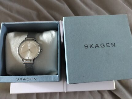 SKAGEN Ladies Silver Mesh Watch.