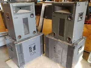 TOA 2 x subwoofer & 2 x 3-way speakers