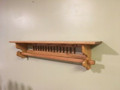 Shelf Unbroken oak  Amish style Made in the USA Great for home or office